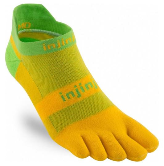 Injinji Run 2.0 Original Weight No Show - Mango