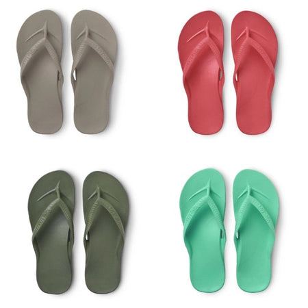 ARCHIES THONGS - TAUPE/KHAKI/CORAL/MINT