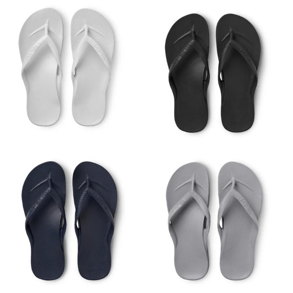 ARCHIES THONGS - BLACK/WHITE/NAVY/GREY