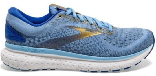 BROOKS GLYCERIN 18 (WOMENS) - CORNFLOWER/BLUE/GOLD