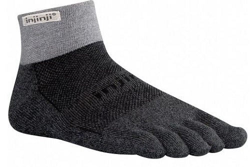 INJINJI PERFORMANCE TRAIL MIDWEIGHT MINI-CREW - GRANITE
