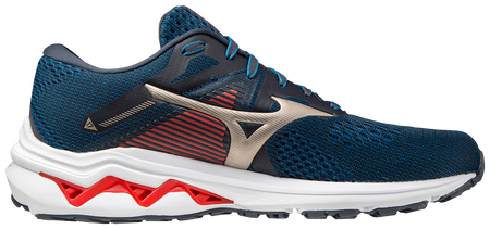 MIZUNO INSPIRE 17 (D WIDTH) - INDIA INK/PLATINUM GOLD (MENS)
