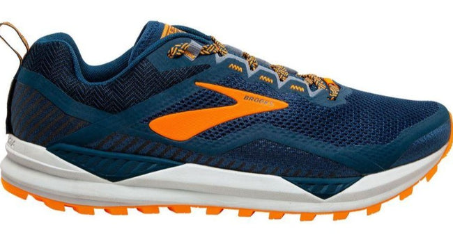BROOKS CASCADIA 14 (D WIDTH) - PETROL/ORANGE (MENS)