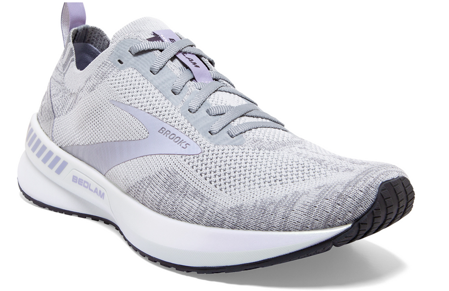 BROOKS BEDLAM 3 (WOMENS) - OYSTER/PURPLE/GREY