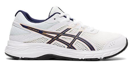 ASICS CONTEND 6 GS - WHITE/PEACOAT (KIDS)