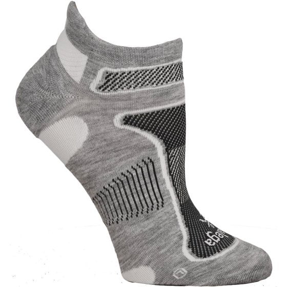 BALEGA ULTRALIGHT SOCK - GREY/WHITE (NO SHOW)