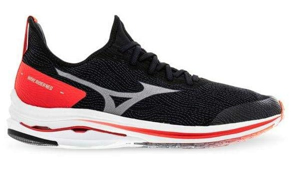 MIZUNO WAVE RIDER NEO (B WIDTH) - BLACK/ WHITE/ IGNITION RED (WOMENS)