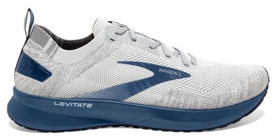 BROOKS LEVITATE 4 (MENS) - GREY/OYSTER/BLUE