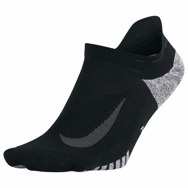 NIKE GRIP ELITE LIGHTWEIGHT NO-SHOW SOCKS - Black/Dark Grey