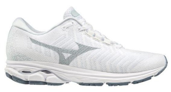 MIZUNO RIDER WAVEKNIT 3 (WOMENS) - WHITE/BLUE/FLINT STONE