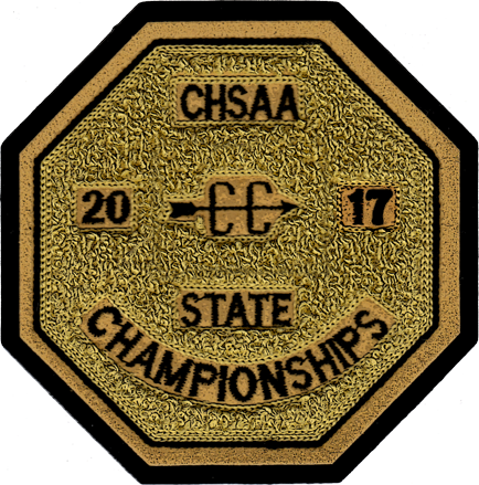 2017 CHSAA State Championship Cross Country Patch