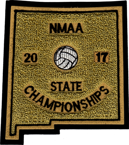 2017 NMAA State Championship Volleyball Patch