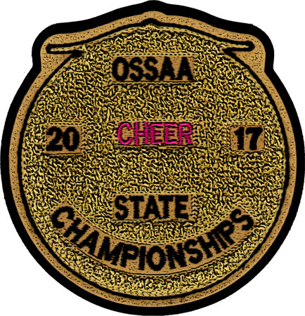 2017 OSSAA State Championship Cheerleading Patch