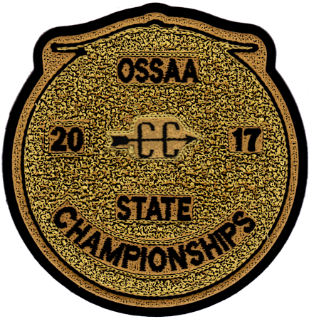 2017 OSSAA State Championship Cross Country Patch
