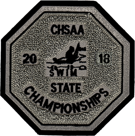 2018 CHSAA State Championship Swim & Dive Patch