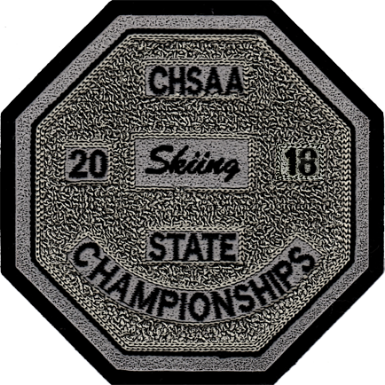 2018 CHSAA State Championship Skiing Patch