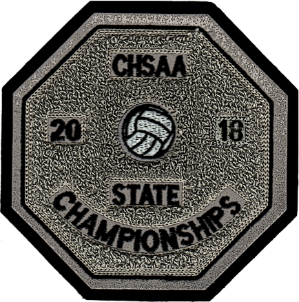 2018 CHSAA State Championship Volleyball Patch