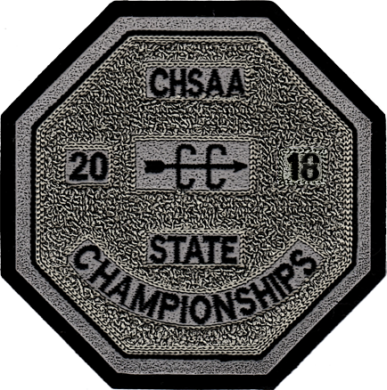 2018 CHSAA State Championship Cross Country Patch