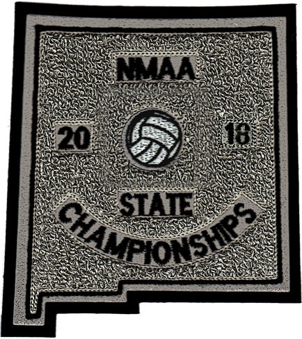 2018 NMAA State Championship Volleyball Patch