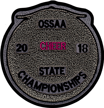 2018 OSSAA State Championship Cheerleading Patch