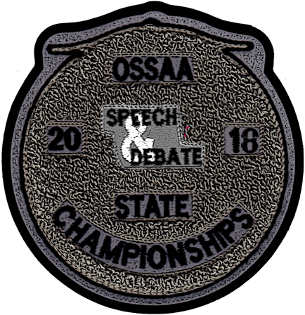 2018 OSSAA State Championship Speech & Debate Patch