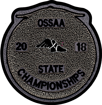 2018 OSSAA State Championship Track & Field Patch