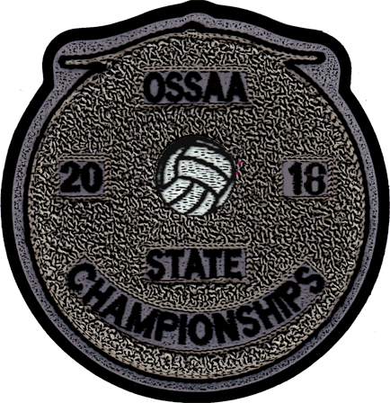 2018 OSSAA State Championship Volleyball Patch