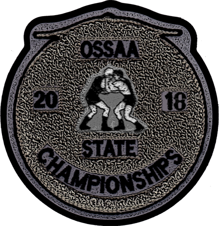2018 OSSAA State Championship Wrestling Patch