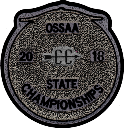 2018 OSSAA State Championship Cross Country Patch