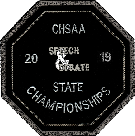 2019 CHSAA State Championship Speech & Debate Patch