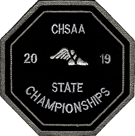 2019 CHSAA State Championship Track & Field Patch