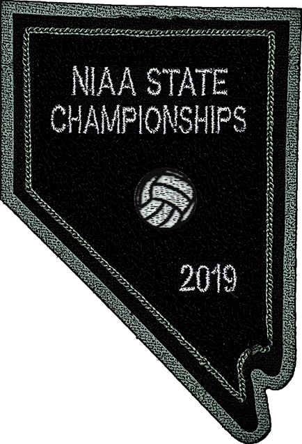 2019 NIAA State Championship Volleyball Patch
