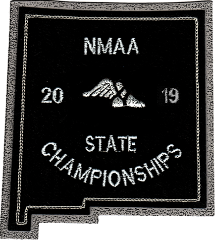 2019 NMAA State Championship Track & Field Patch