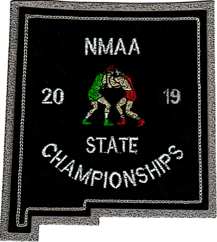 2019 NMAA State Championship Wrestling Patch