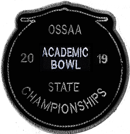 2019 OSSAA State Academic Bowl Patch
