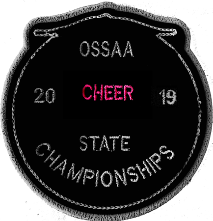 2019 OSSAA State Championship Cheerleading Patch