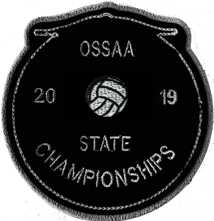 2019 OSSAA State Championship Volleyball Patch