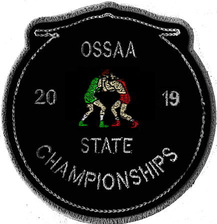 2019 OSSAA State Championship Wrestling Patch