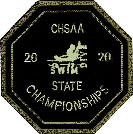 2020 CHSAA State Championship Swim & Dive Patch