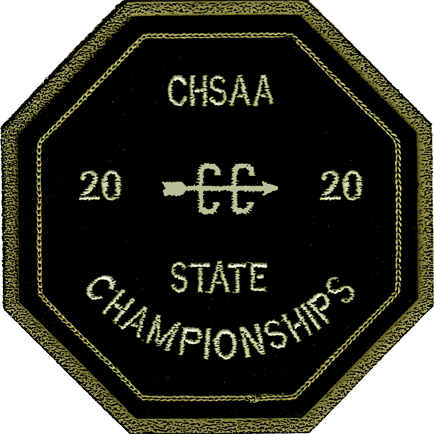 2020 CHSAA State Championship Cross Country Patch