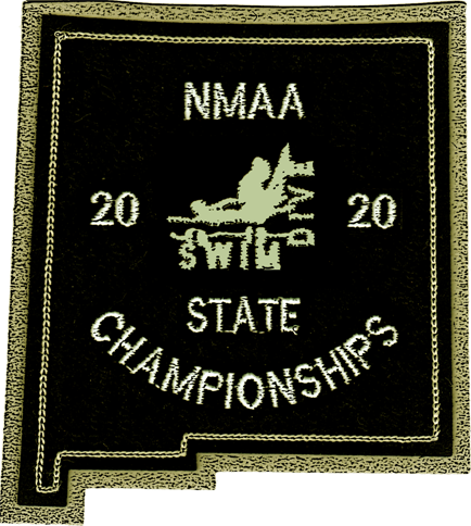 2020 NMAA State Championship Swim & Dive Patch