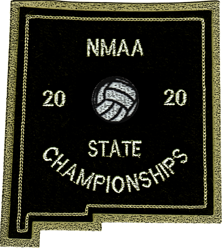 2020 NMAA State Championship Volleyball Patch