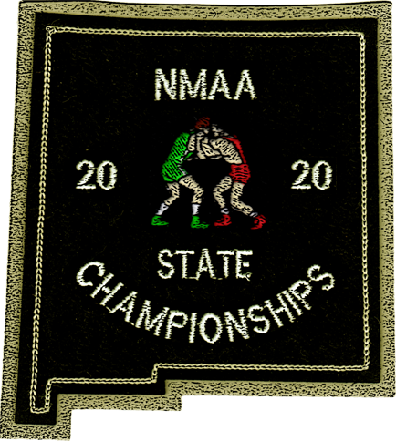 2020 NMAA State Championship Wrestling Patch
