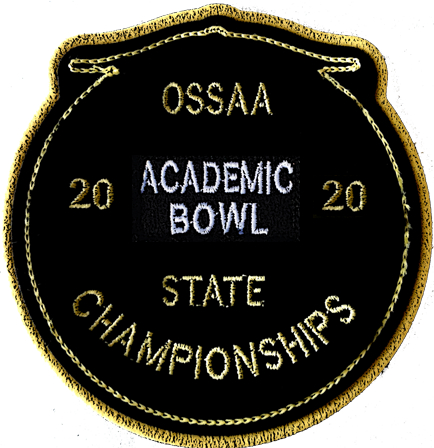 2020 OSSAA State Academic Bowl Patch