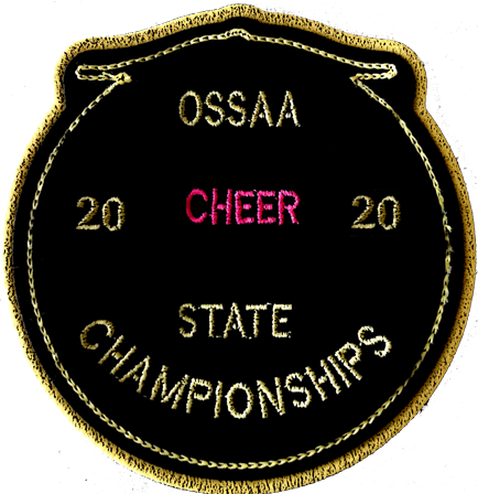 2020 OSSAA State Championship Cheerleading Patch