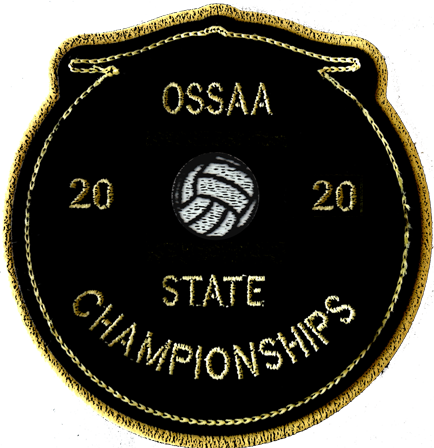 2020 OSSAA State Championship Volleyball Patch