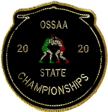 2020 OSSAA State Championship Wrestling Patch