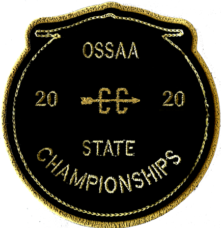2020 OSSAA State Championship Cross Country Patch