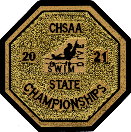 2021 CHSAA State Championship Swim & Dive Patch