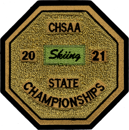 2021 CHSAA State Championship Skiing Patch